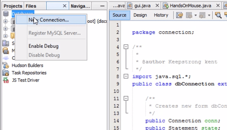MySQL database using XAMPP