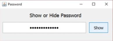 hide and show password in jPasswordField