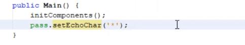 jPasswordField in Java