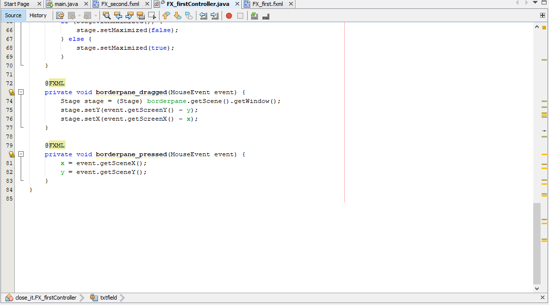 drag an undecorated stage in JavaFX