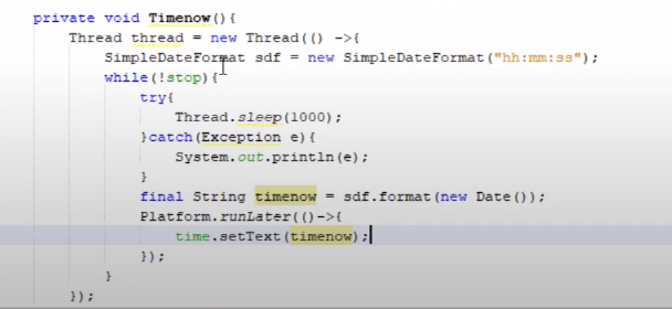 get current time in java