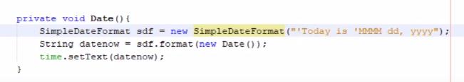 current date in java