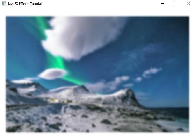JavaFX Effects - Box Blur